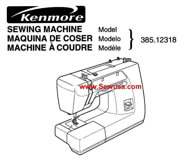 Kenmore 40 Models Instruction Manuals Amazing Kenmore 385 Sewing Machine Threading